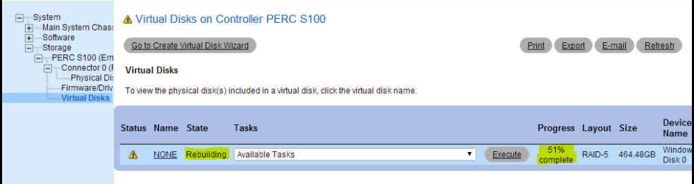 How To Resovle Degraded Dell T410 Server With PERC S100 RAID